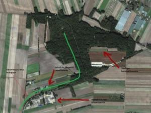 "Plan sytuacyjny kompleksu ""Borgdorf"""