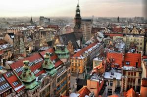 widok na Rynek z Mostku Czarownic katedry św. Marii Magdaleny