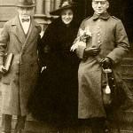 Fritz Haber z drugą żona Hedwig i Synem Hermanem z pierwszego małżeństwa.