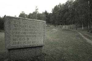 Teren dawnej wsi z pomnikami