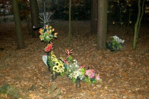 cmentarzyk w lesie