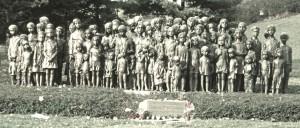 Pomnik zamordowanych dzieci, każde ma swoją rzeźbę