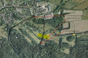 Plan rozmieszczenia lini kolejowych