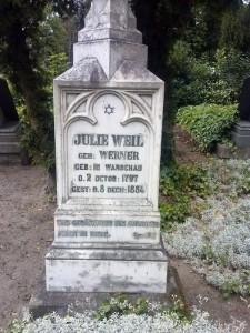 Postument Julii Weil, rodzonej siostry Christiana Wilhelma Wernera.