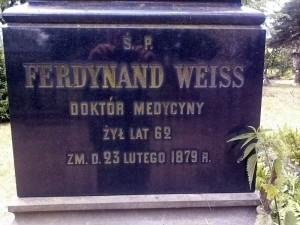 Część obelisku Ferdynanda Weissa.