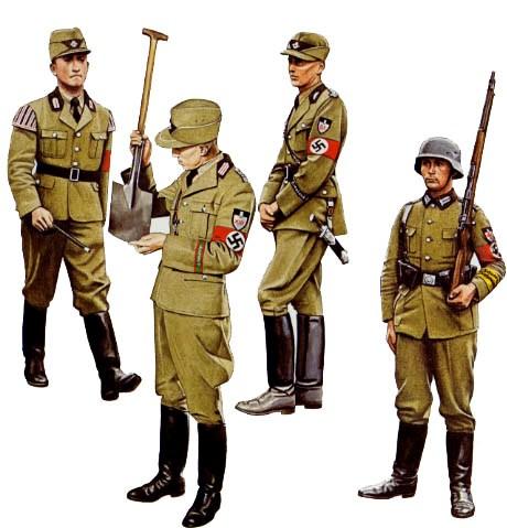3. Uniformy męskie Reichsarbeitsdienst.