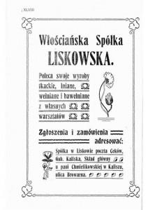Anons promujący Spółkę Liskowską.