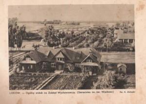 Sierociniec Św. Wacława (drewniane nieistniejące dziś budynki rozebrane przez okupanta w czasie wojny)