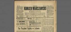 Kurjer Warszawski 14 czerwca 1937 rok