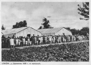 Sierociniec w 1920 roku - w namiotach