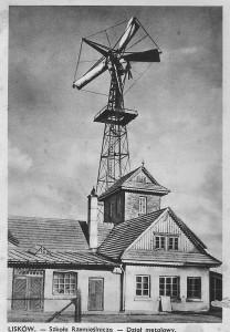 Szkoła Rzemieślnicza - Dział metalowy. Wiatrak Duński zdemontowany w 1942 roku.