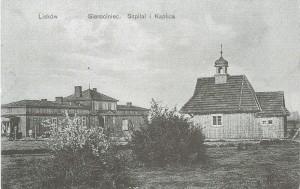 Rozebrany przez Niemców szpital i kaplica - Dzisiejsza ulica Twórców Liskowa