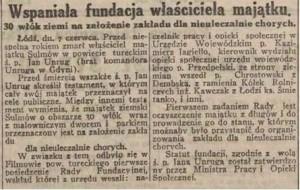 Gazeta Echo Łódzkie 1932 czerwiec.