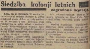 Gazeta Echo Łódzkie 1933 listopad