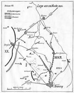 Mapa rejonu w , którym byliśmy