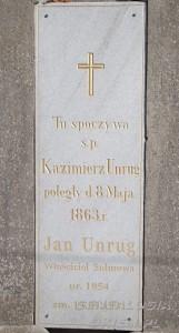 tablica unrugow na cmentarzu w Goszczanowie
