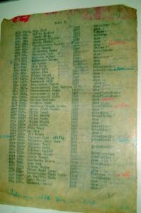 Lista Żydów deportowanych do obozów śmierci