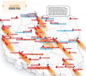 Cele NATO leżały głównie na linii Wisły i Odry oraz przy granicy z ZSRR. To miało powstrzymać ofensywę na Zachód. Obecnych celów Rosji można się domyślać: lotniska, jednostki wojskowe, węzły transportowe, rafinerie.