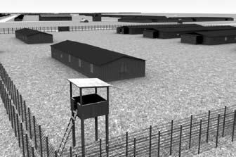 Animacja obozu jenieckiego w Monicach wyk. Michał Scherer