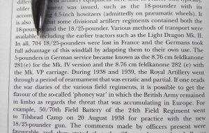 Fragment o Dunkierce z książki The 25-pounder Field Gun 1939 – 71 Chrisa Henry ego
