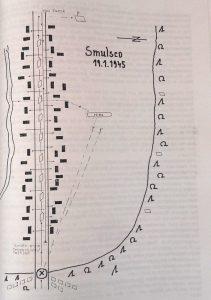 Mapa bitwy w Smulsku zamieszczona w książce Ostatni podchorążowie z Owińsk